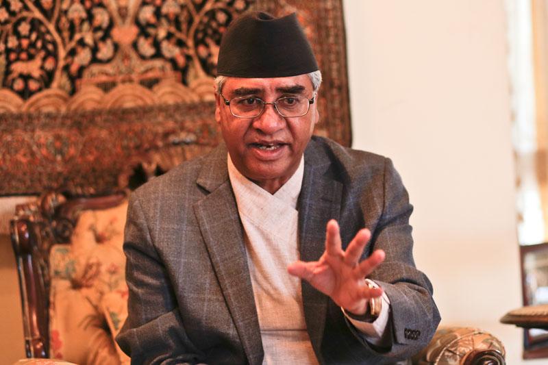 Sher Bahadur Deuba  Photo: Dinesh Gole/Nagarik/Republica