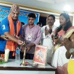 नेपालगन्ज में जयश्रीराम शक्ति दल लाठी समिति द्वारा खेलाडी सम्मान
